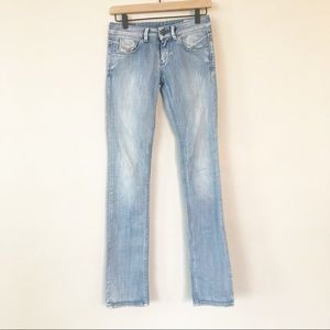 Diesel Straight Leg Stretch Jeans